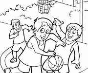Free coloring and drawings Outdoor basketball Coloring page