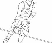Free coloring and drawings Single basketball player Coloring page
