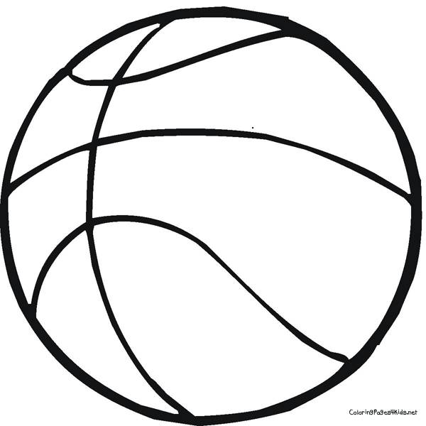 Free coloring and drawings  sport Ball of Basketball Coloring page