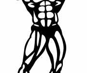 Coloring pages Bodybuilding in color