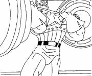 Coloring pages Captain America Bodybuilding