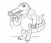 Coloring pages Muscular crocodile