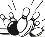 Coloring pages Ball and Bowling