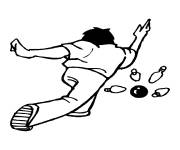 Coloring pages Bowling player