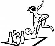 Coloring pages Bowling to cut