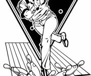 Coloring pages Professional bowling