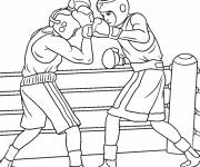 Coloring pages Boxing match