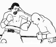 Coloring pages Boxing match to print