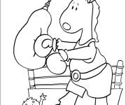Coloring pages Donkey Boxer
