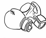 Coloring pages Gloves for Boxers