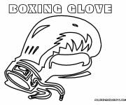 Coloring pages Stylized Boxing Glove
