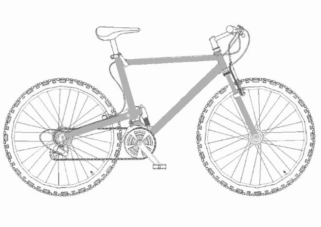 Free coloring and drawings A bike Coloring page