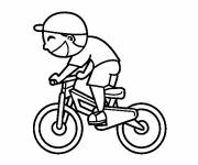 Free coloring and drawings A little cyclist Coloring page