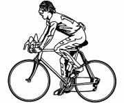 Free coloring and drawings Black and white cycling Coloring page