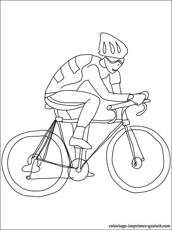 Free coloring and drawings Children's cycling Coloring page