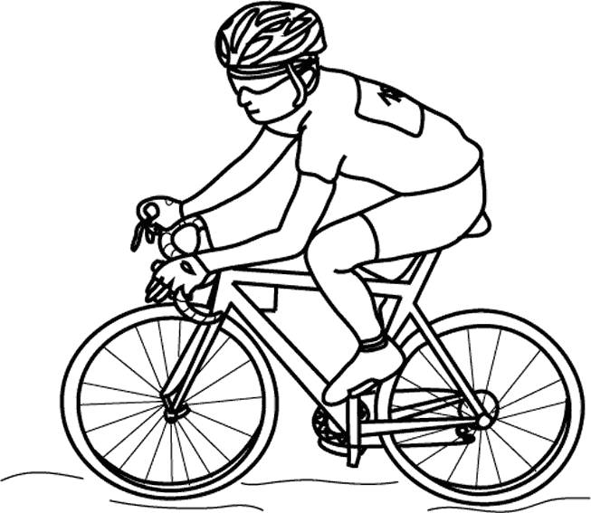 Free coloring and drawings Cutout cycling Coloring page