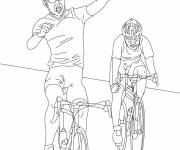 Coloring pages Cycling competition