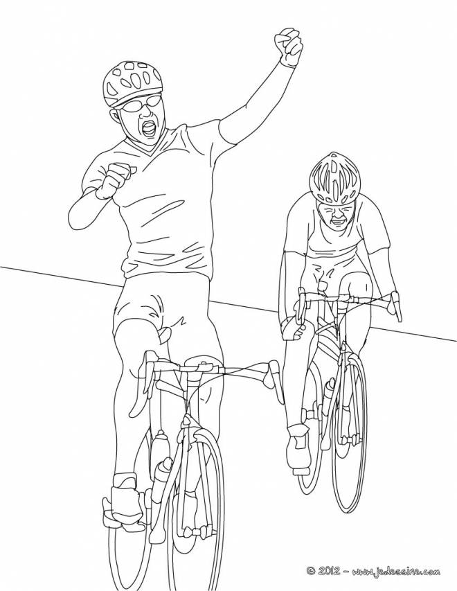Free coloring and drawings Cycling competition Coloring page