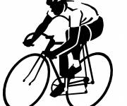 Coloring pages Cycling Silhouette