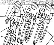 Coloring pages Cycling speed race