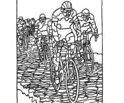 Coloring pages Cycling Sport to be colored