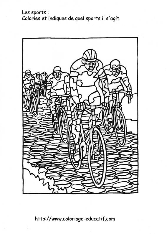 Free coloring and drawings Cycling Sport to be colored Coloring page