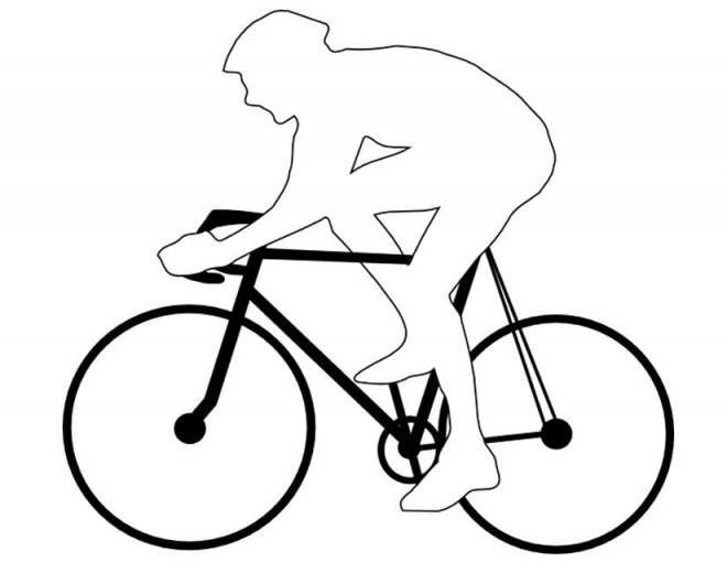 Free coloring and drawings Cyclist to complete Coloring page