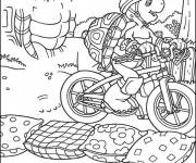 Coloring pages Cyclist turtle