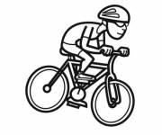 Free coloring and drawings Easy cycling Coloring page