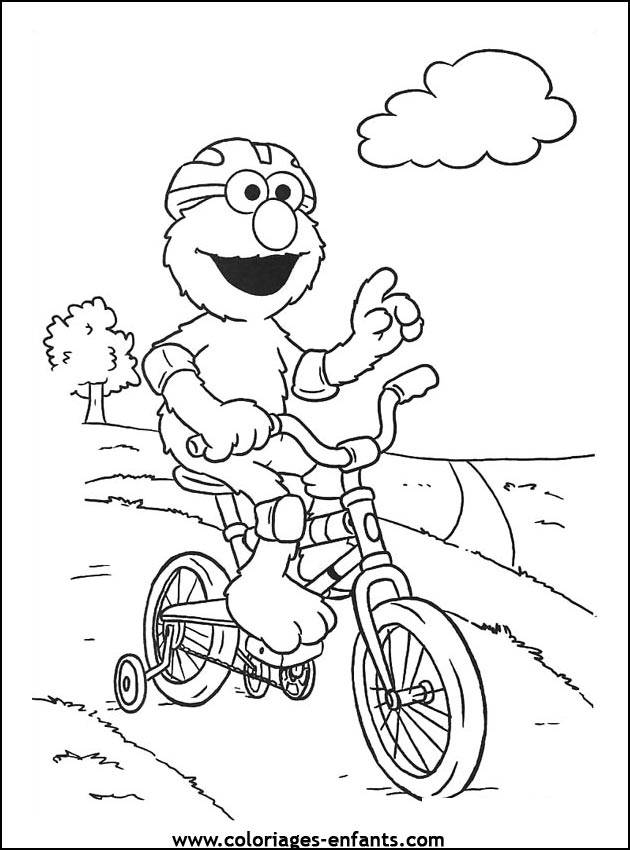 Free coloring and drawings Funny cyclist Coloring page