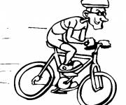 Free coloring and drawings Humor cyclist Coloring page
