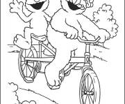 Free coloring and drawings Humorous two-seater bike Coloring page