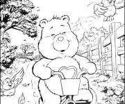 Coloring pages Little Bear on his Bike