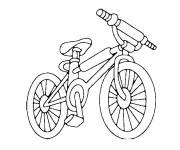 Coloring pages MTB cycling
