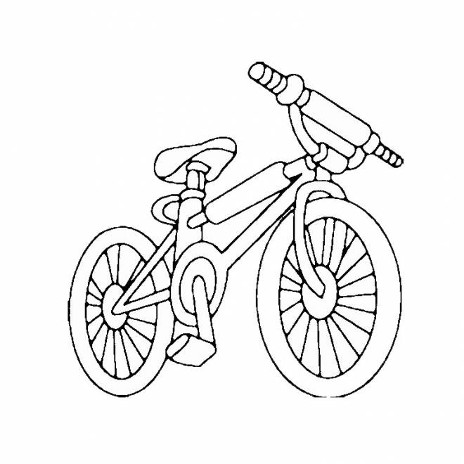 Free coloring and drawings MTB cycling Coloring page