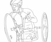 Coloring pages Paralympic cycling