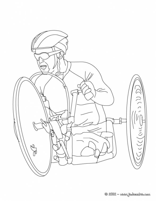 Free coloring and drawings Paralympic cycling Coloring page