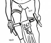 Coloring pages Pencil cycling