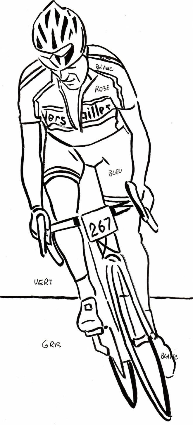 Free coloring and drawings Pencil cycling Coloring page