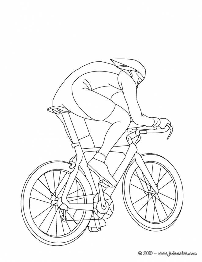 Free coloring and drawings Room cycling to decorate Coloring page