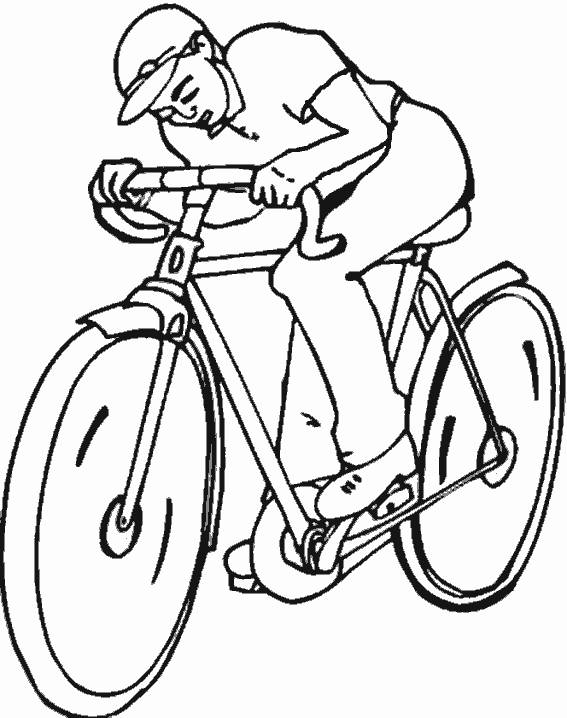 Free coloring and drawings Simple cycling Coloring page