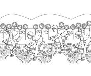 Coloring pages Sport Cycling in nature
