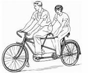 Free coloring and drawings Tandem bike Coloring page