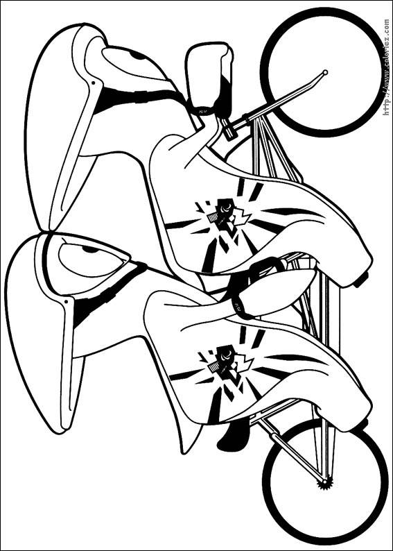 Free coloring and drawings Two Cyclists Indoor Coloring page