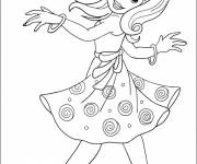 Coloring pages A dancing girl