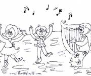 Coloring pages Children dance