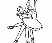 Coloring pages Classic dance