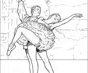 Coloring pages Kindergarten classical dance