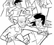 Coloring pages Cartoon fight