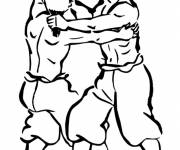 Free coloring and drawings Color Combat Coloring page